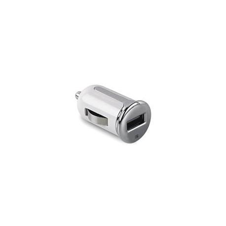 CL autonabíjačka CELLY Turbo s USB výstupom, 2,4 A, biela