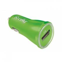 CL autonabíjačka CELLY s USB výstupom, 1A, zelená
