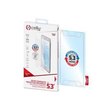 """Univerzálne ochranné tvrdené sklo CELLY Glass pre telefóny do 5,3"""", matné"""
