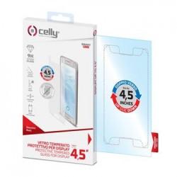 """Univerzálne ochranné tvrdené sklo CELLY Glass pre telefóny do 4,5"""", matné"""