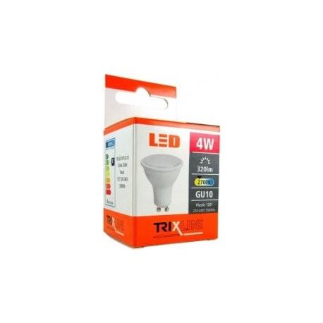 Trixline GU10 4W teplá biela