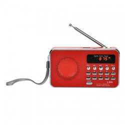 Bravo B 6039 digitálne rádio Sam, červená